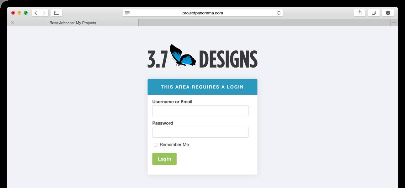 WordPress Client Dashboard Login Page